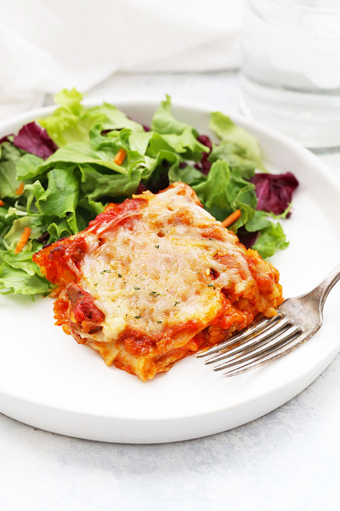 Gluten Free Dairy Free 4 Ingredient Lasagna from One Lovely Life