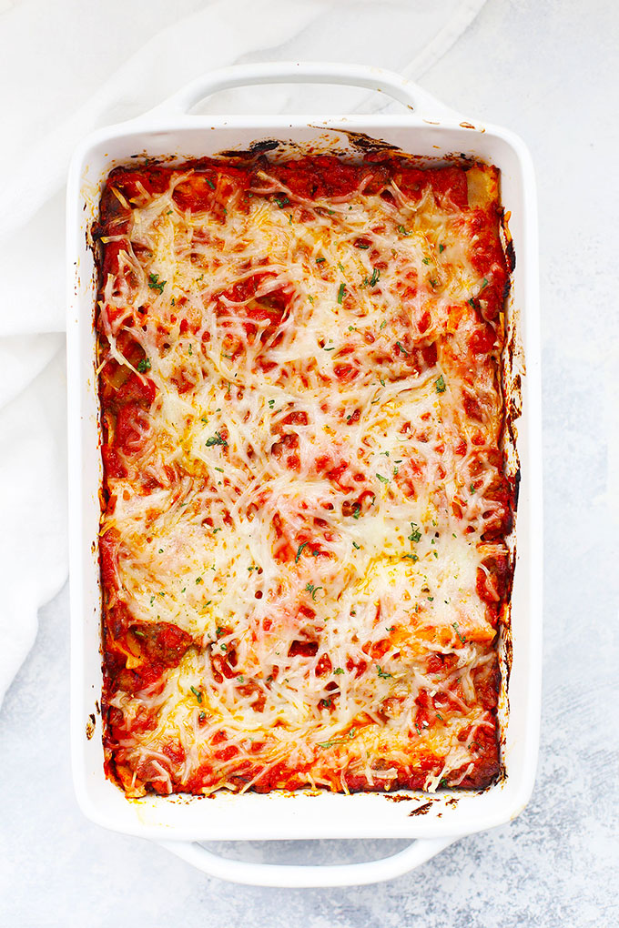 4 Ingredient Lasagna from One Lovely Life