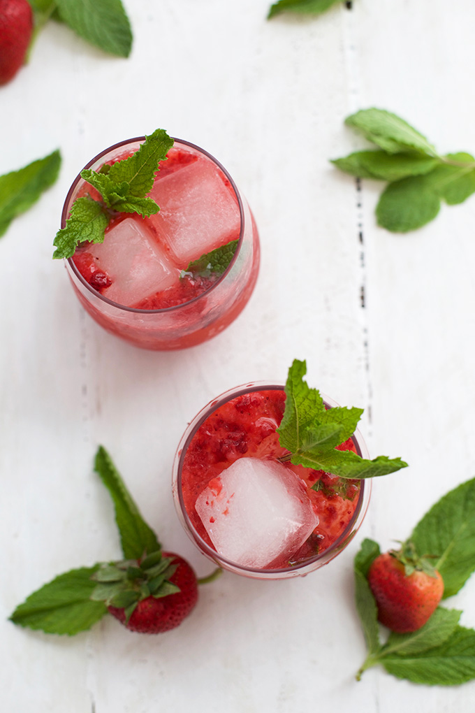 These Virgin Strawberry Mint Juleps are just what you need for Derby Day.
