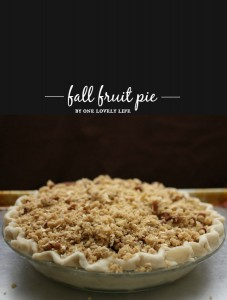fall fruit pie