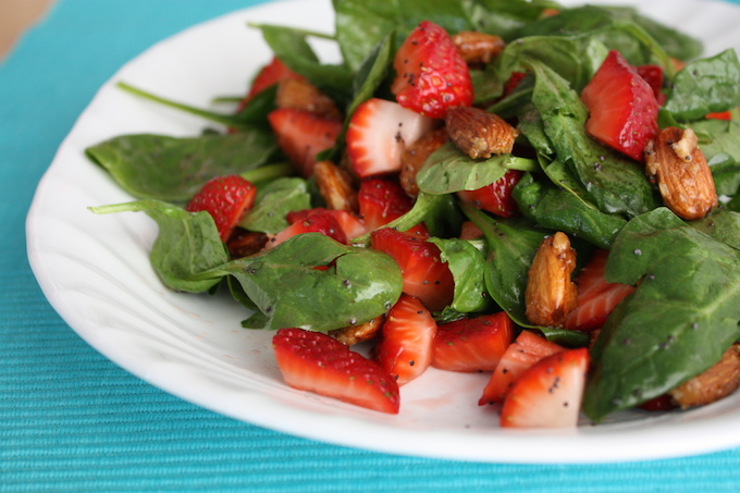 Fresh Strawberry Salad // One Lovely Life