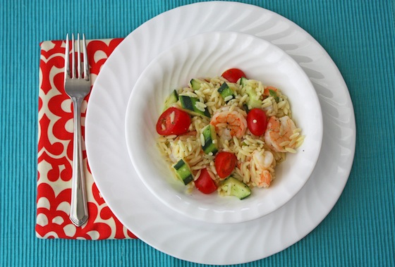 Lemon Dill Shrimp Orzo Salad Df One Lovely Life
