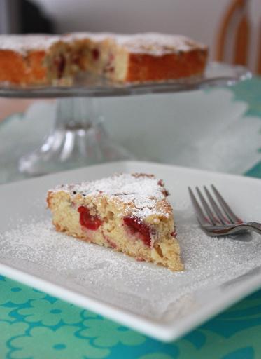Summer Cherry Cake // One Lovely Life