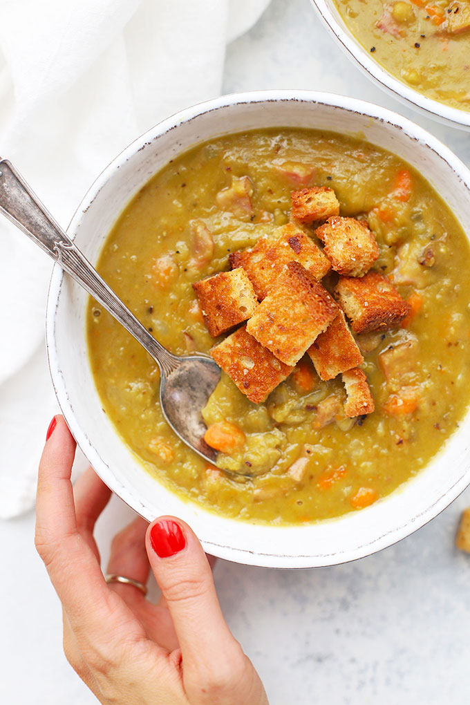 Ham and Split Pea Soup from One Lovely Life
