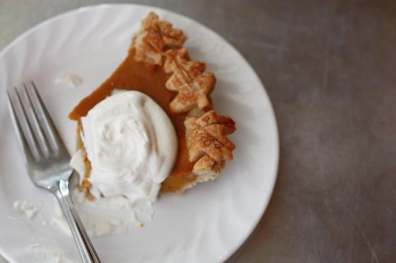 I love making pumpkin pie from scratch!