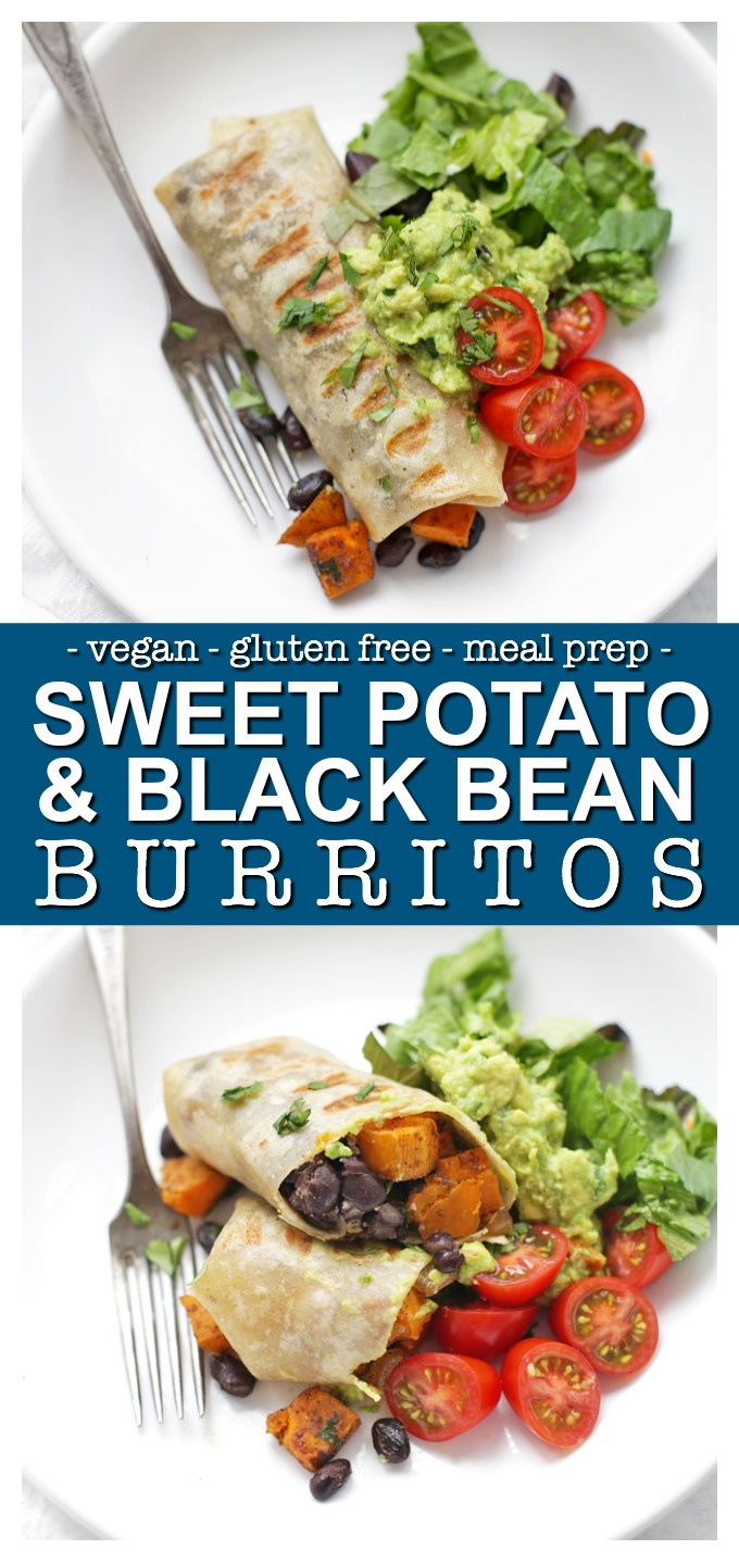 Vegan Black Bean & Sweet Potato Burritos - It doesn't get easier than this. It's the kind of comforting classic you'll turn to over and over again.