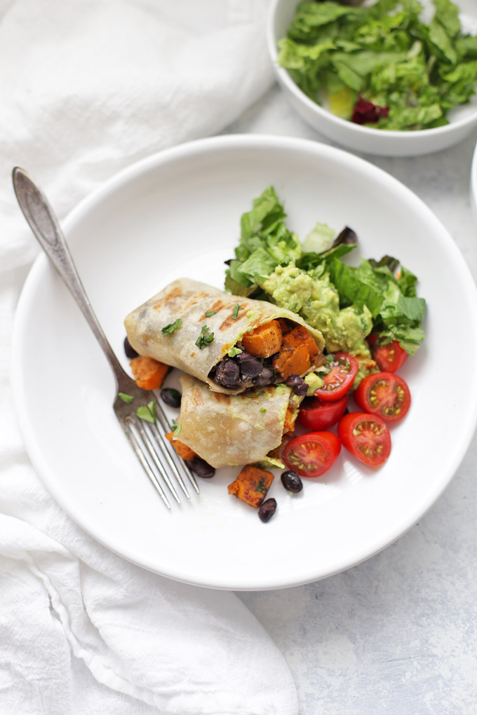 Sweet Potato & Black Bean Burritos are a classic. Check out my basic recipe and see lots of variations to keep things interesting!