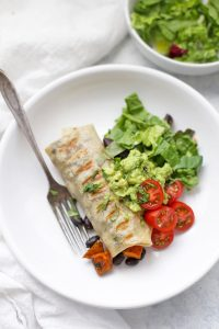 Sweet Potato & Black Bean Burritos from One Lovely Life
