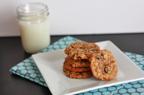 Grampa's Oatmeal Raisin Cookies // One Lovely Life