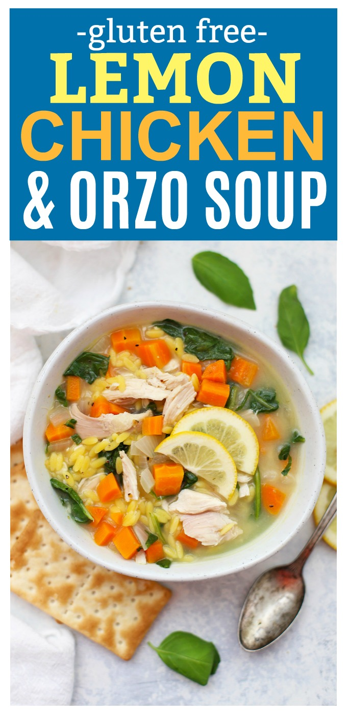 Lemon Chicken Orzo Soup - This savory Panera copycat recipe is one of our cool-weather favorites. The perfect light comfort food!