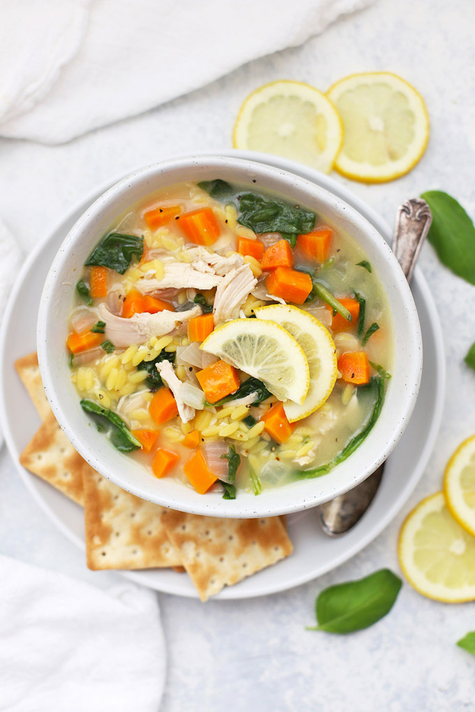 Gluten Free Lemon Chicken Orzo Soup (a Panera copycat!!!)