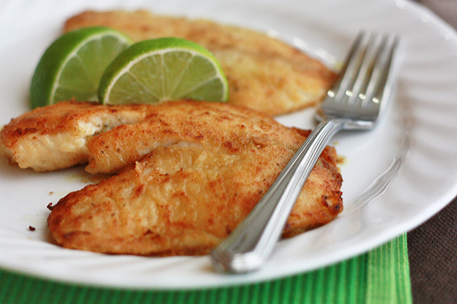 Honey Lime Tilapia // One Lovely Life