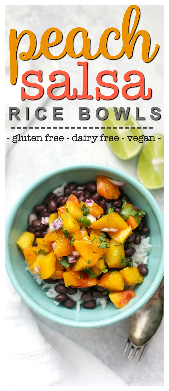 Peach Salsa Rice Bowls - One Lovely Life