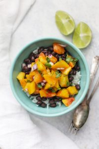 PEACH SALSA Rice Bowls! Your meatless Monday just got a whole lot tastier! (vegan, gluten free)