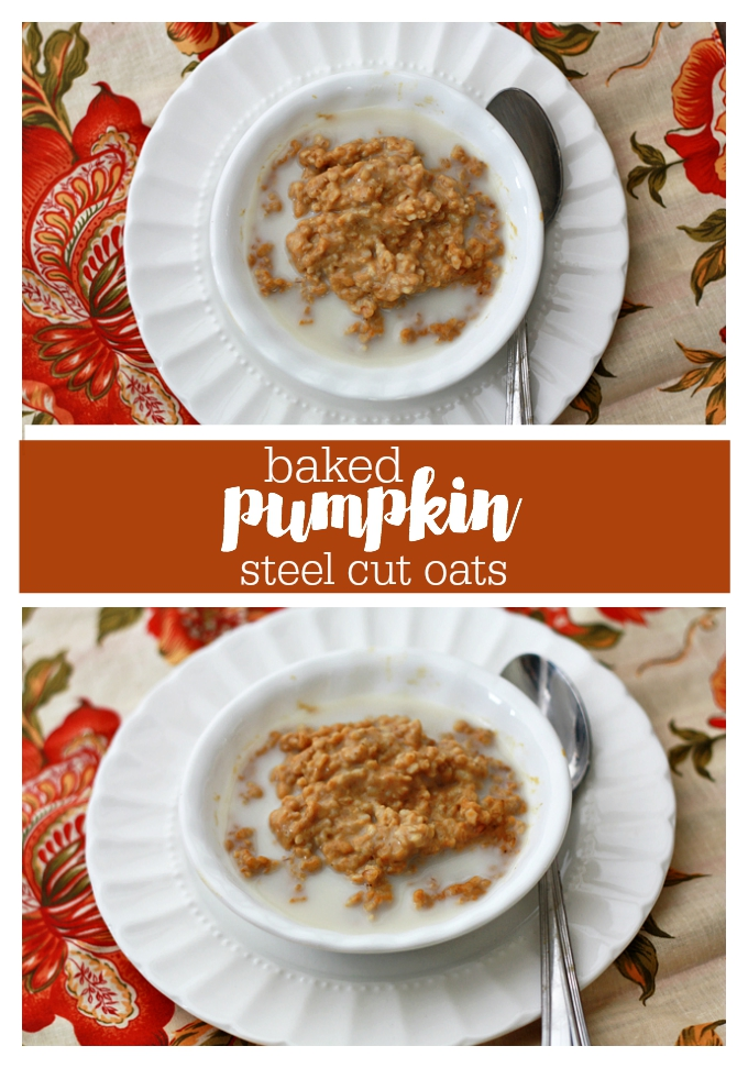 A perfect fall breakfast - Baked Steel-cut oatmeal