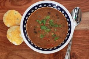 smokey black bean and lentil soup (gf, df, v)