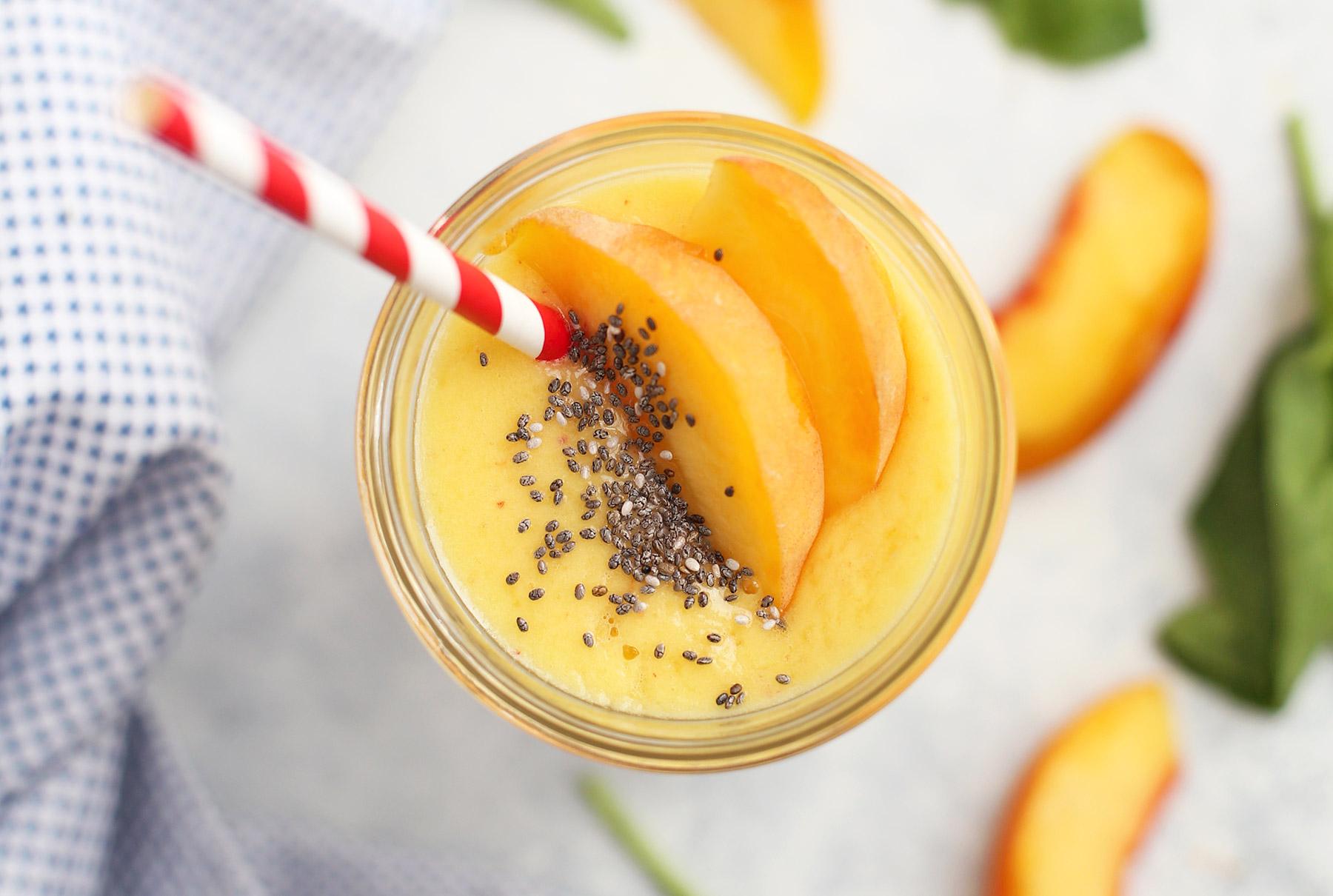 Peach Mango Bliss Smoothie (Paleo & Vegan) • One Lovely Life
