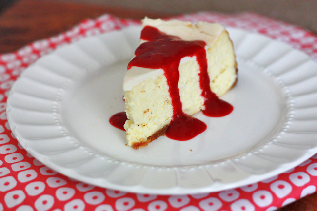 New York Style Cheesecake // One Lovely Life