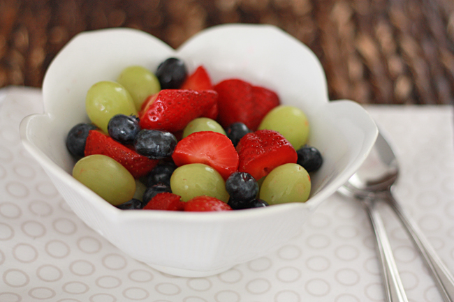 Honey Lime Fruit Salad // One Lovely Life