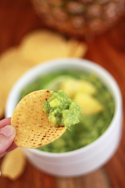 This pineapple guacamole is such a perfect party dip.