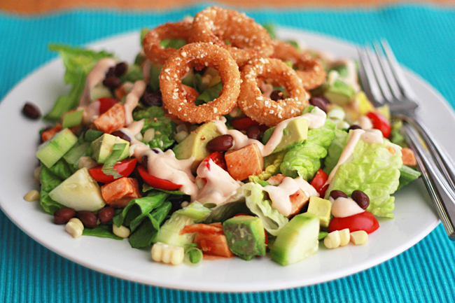 barbecue ranch chicken salad - One Lovely Life