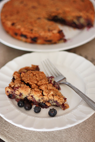 Blueberry Buckle // One Lovely Life