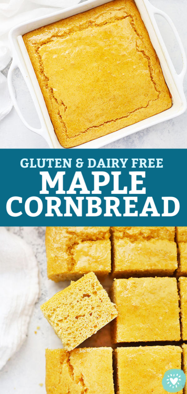 Light, fluffy Maple Cornbread from One Lovely Life