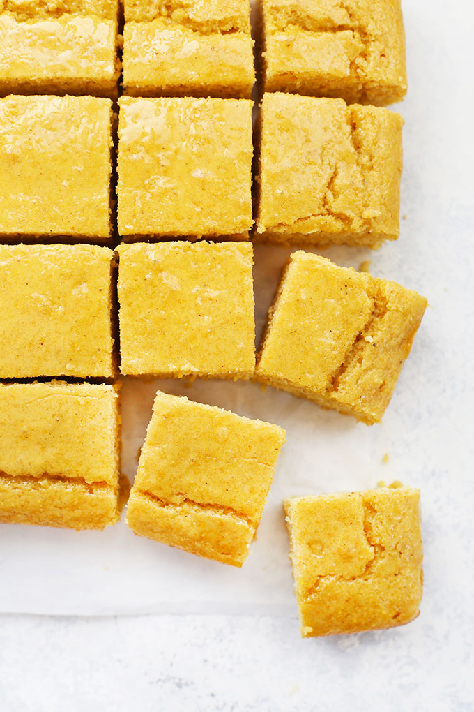 Squares of Maple Cornbread from One Lovely Life