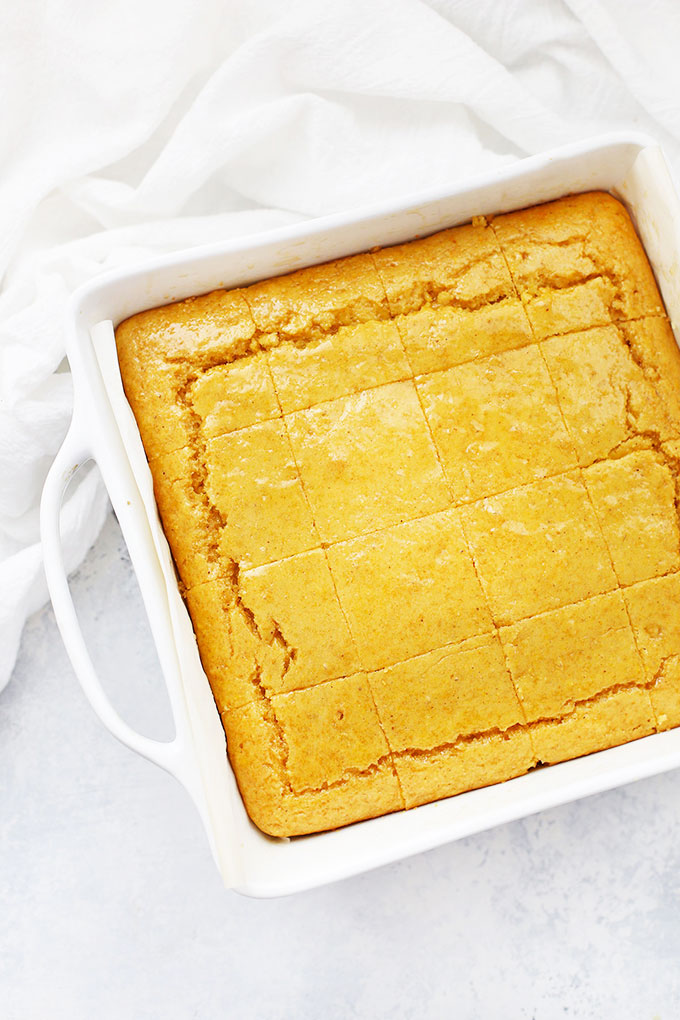 Gluten & Dairy Free Maple Cornbread from One Lovely Life