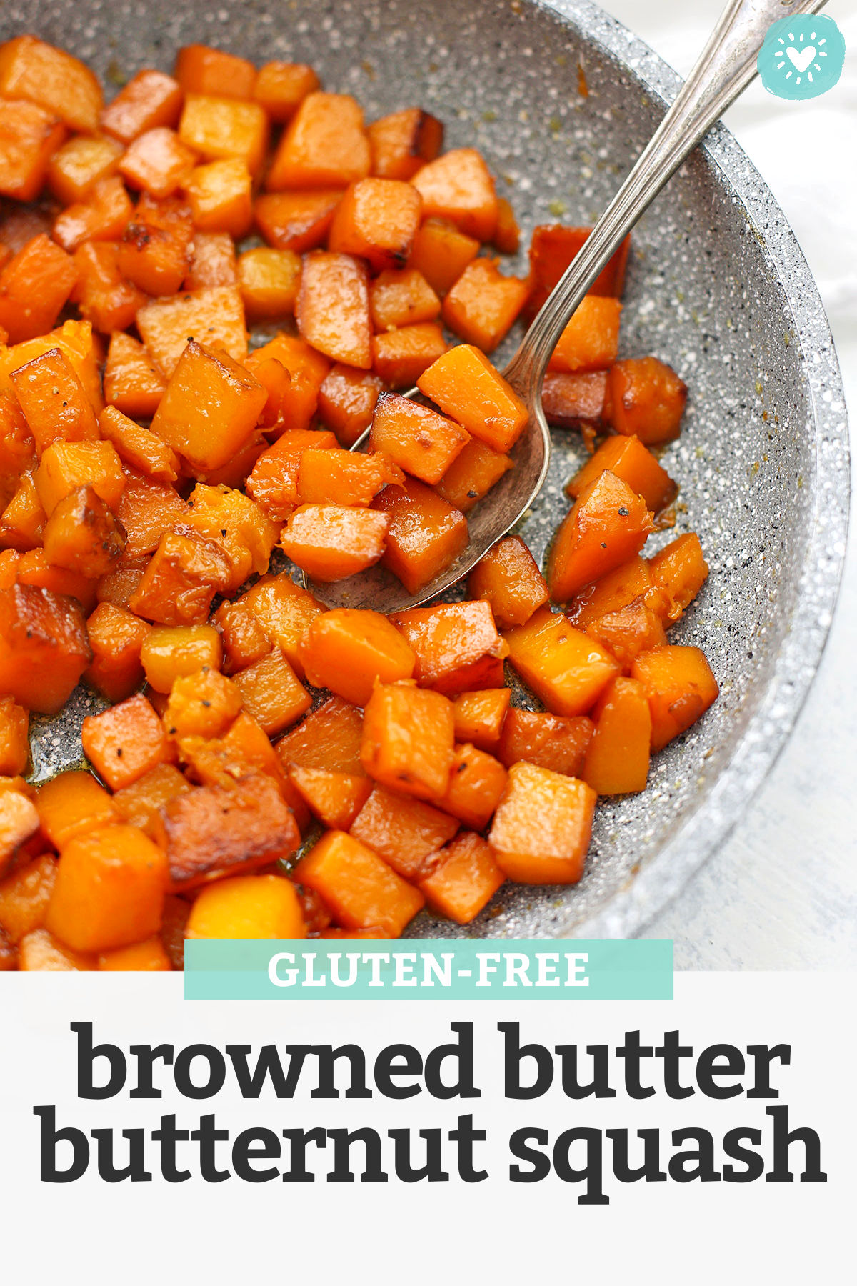 Caramelized Browned Butter Butternut Squash - These gorgeous browned butter squash recipe is the PERFECT side dish--savory, sweet, and gorgeously caramelized all over! (Gluten Free)// butternut squash recipes // Side dish // easy side dish recipe // vegetable side dish // #glutenfree #squash #butternutsquash #sidedish