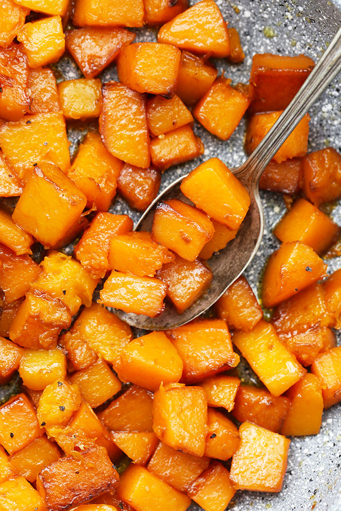 Caramelized Browned Butter Butternut Squash from One Lovely Life