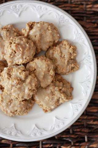 Loaded Oatmeal Cookies with Brown Butter Glaze // One Lovely Life