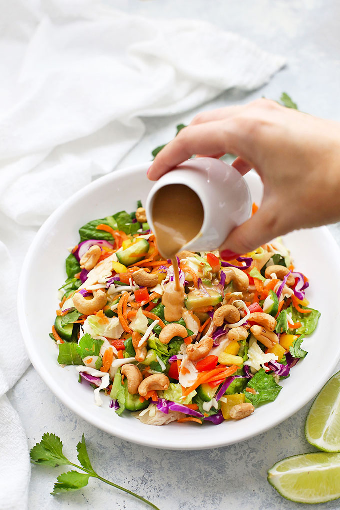 Thai Chopped Salad with Peanut Sauce Drizzle from One Lovely Life