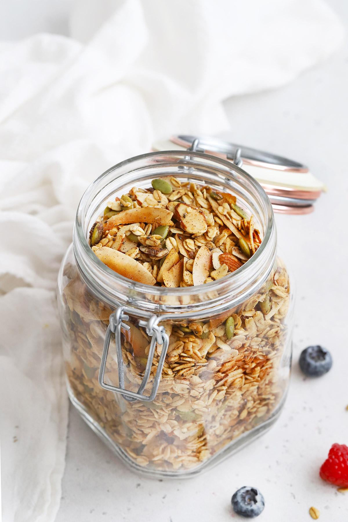 Jar of Gluten Free Warm Spiced Granola