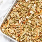 Sheet Pan of Gluten Free Warm Spiced Granola