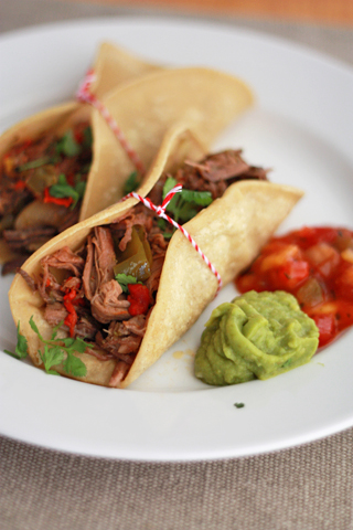 Simple Slow Cooker Beef Carnitas. These are the best!