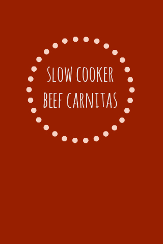 Slow Cooker Beef Carnitas - These make the best tacos, taco salads, or nachos! from www.onelovelylife.com