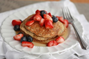 Paleo Almond Poppy Seed Pancakes // One Lovely Life