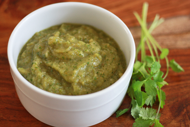 Chile Verde Sauce - Such a versatile sauce! We love it on tacos, fish, eggs, you name it!
