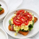 BLT Egg Salad on Toast from One Lovely Life