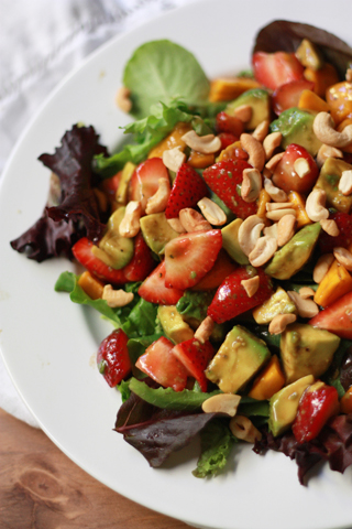 Summer Salad with Balsamic Lime Dressing. Gluten free, Paleo, and DELICIOUS.