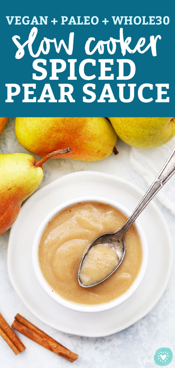 Slow Cooker Spiced Pear Sauce from One Lovely Life
