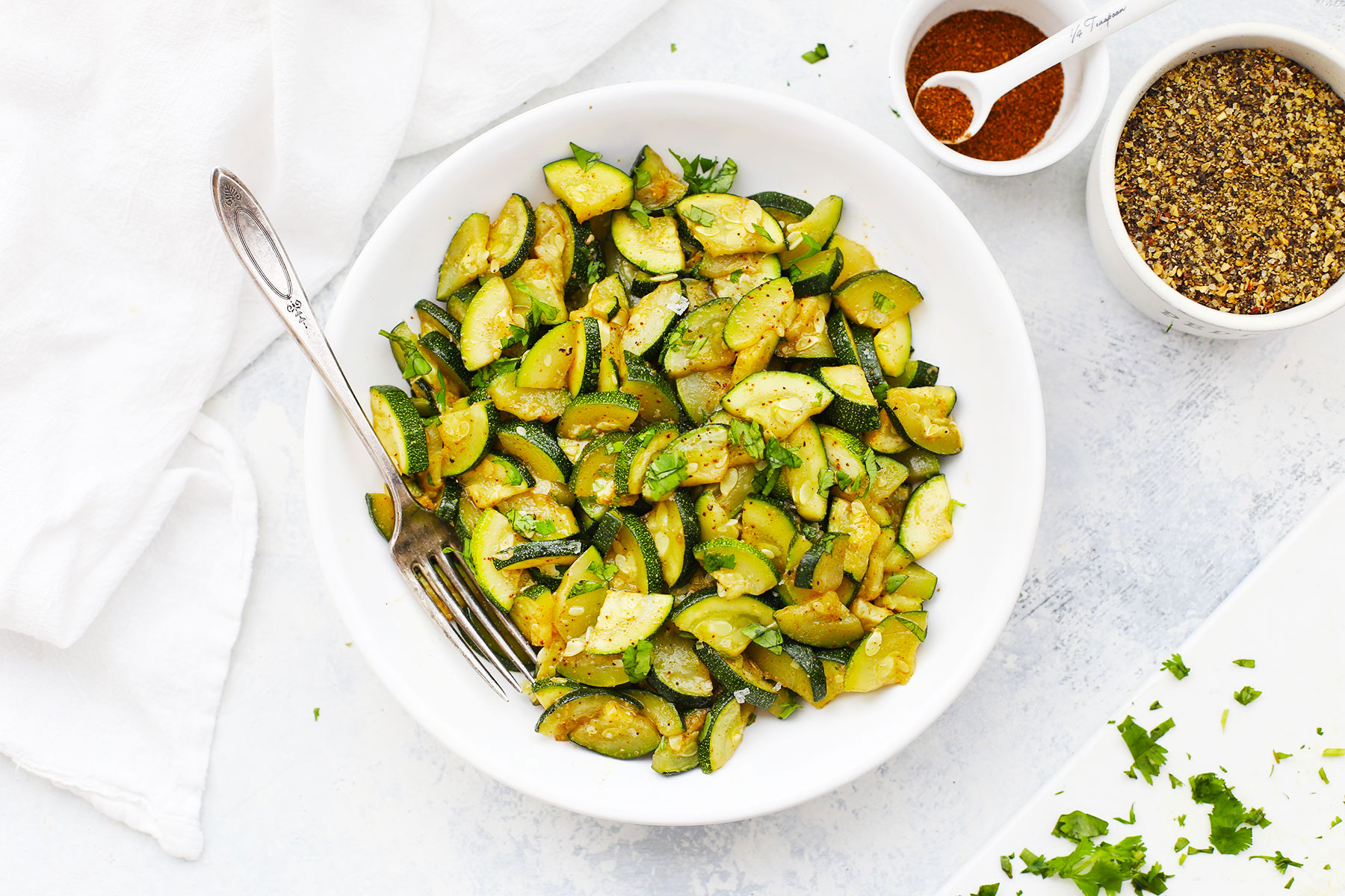 Chili Roasted Zucchini Paleo Vegan Whole30 One Lovely Life