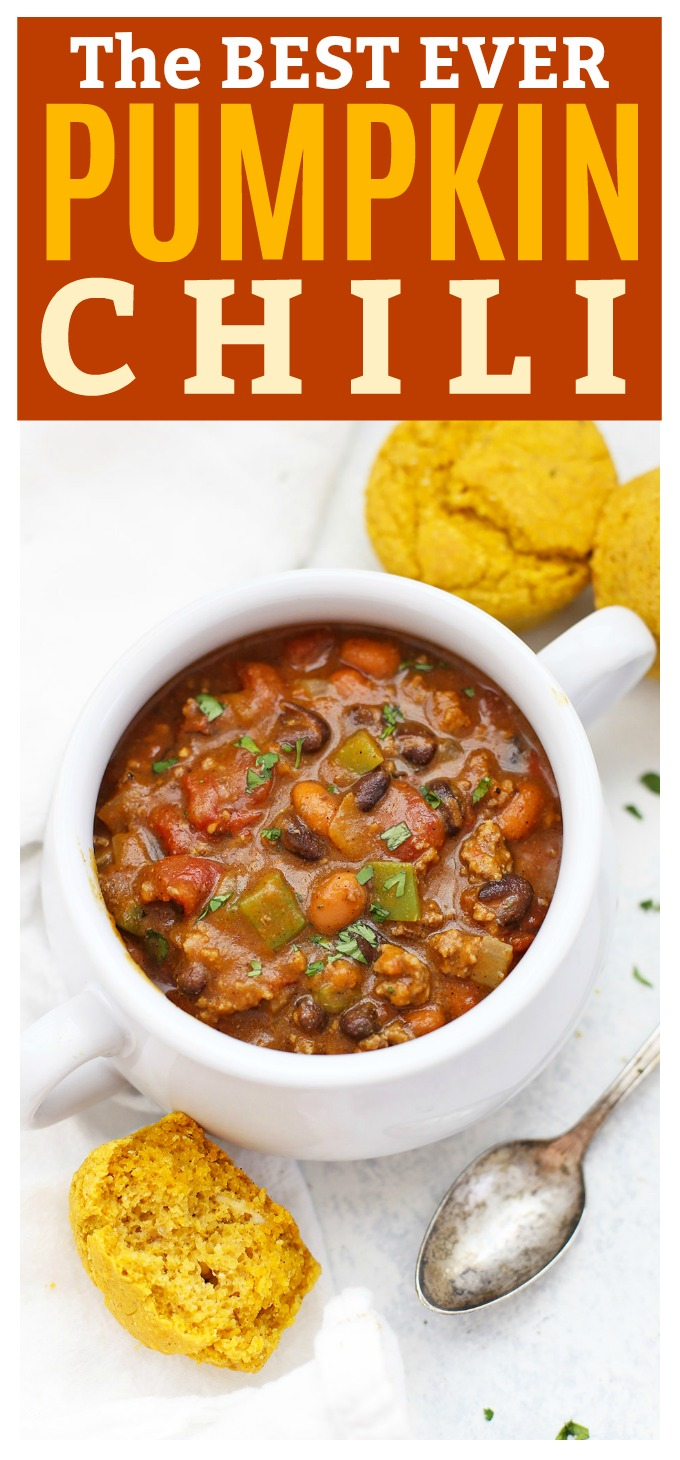 The BEST EVER Pumpkin Chili - This pumpkin chili might just win you a prize! (gluten free, and paleo and vegan friendly!)