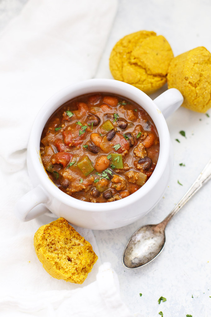 The BEST EVER Pumpkin Chili - Pumpkin is for savory recipes, too! This is the best prize-winning chili! (gluten free, vegan, and paleo friendly)