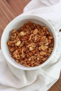 Honey Almond Granola // One Lovely Life