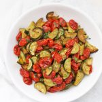 Got too many zucchini? Make this Simply Roasted Zucchini and Tomatoes. Awesome with eggs, stirred into quinoa or pasta, and more!