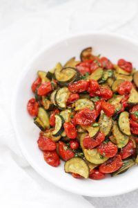 Simply Roasted Zucchini and Tomatoes