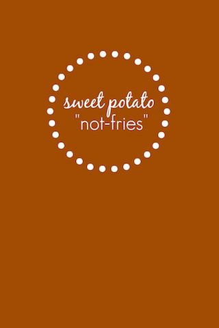 "Sweet Potato ""Not Fries"" // One Lovely Life"