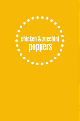Chicken Zucchini Poppers (Paleo, Whole30 approved) // One Lovely Life